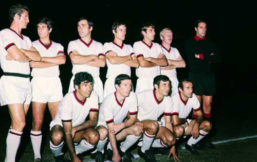 El conjunto milanista que jugó esta final en 1969. (Foto: AC Milán)