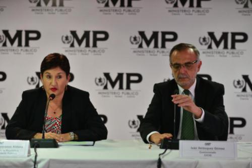 Aldana y Velásquez han encabezado investigaciones que han dejado al descubierto la corrupción que opera en diversas instituciones gubernamentales. (Foto: Archivo/Soy502)
