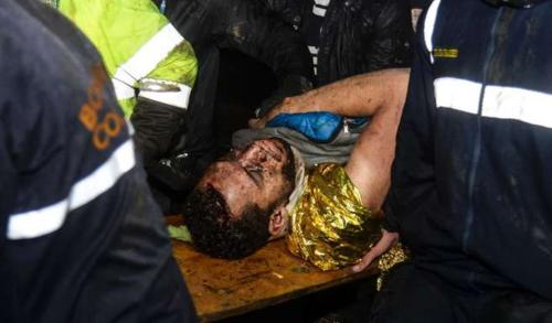 Hélio Neto pasó seis horas bajo los escombros. (Foto: AFP)