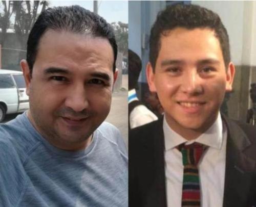Sammy Morales y José Manuel Morales, hermano e hijo del presidente Jimmy Morales, esperan que el MP termine la investigación y determine si serán citados por un juez por el caso Botin en el Registro de la Propiedad. (Foto: Archivo/Soy502)