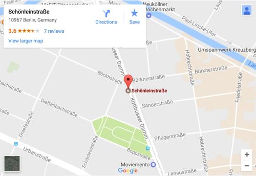 Esta es la ubicación de la estación de Schönleinstrasse. (Foto: Google Maps)