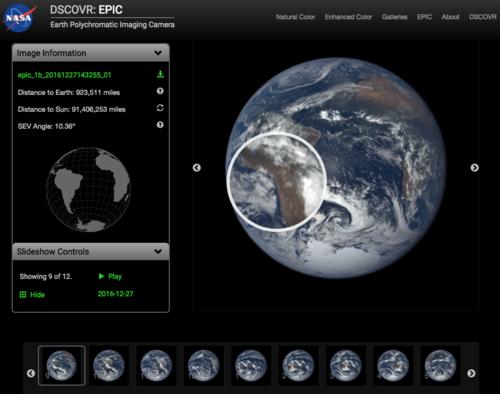 En esta parte puedes interactuar con las imágenes del Planeta. (Foto: Captura de Epic)