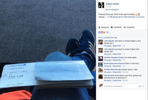 El delantero guatemalteco, Ángelo Padilla, viajó a Malta  para hacer una prueba y buscar vincularse con el FC Mosta, que milita en la Premier League de Malta. (Foto: Twitter)