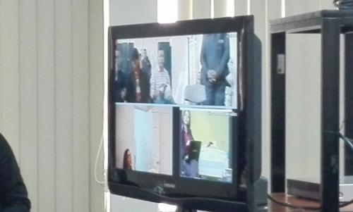 Cinco implicados no fueron trasladados al Juzgado para la audiencia de etapa intermedia, sino que participaron a través de videoconferencia.