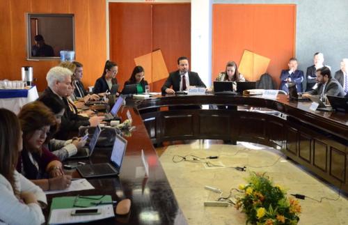 En una fotografía compartida por la SIECA en Twitter se observa a Lacs en la reunión efectuada este 19 de enero. (Foto: Twitter)