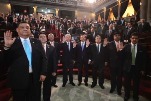 Ambos diputados formaron parte de la Junta Directiva del Congreso en el 2015. (Foto: Archivo/Soy502)