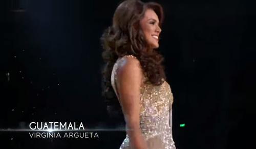 Así lució Guatemala en la gala. (Foto: captura de pantalla)