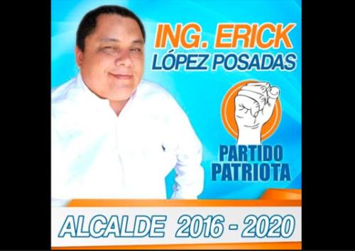 Sin el apoyo de Lider, Erick López Posadas se postuló por el Partido Patriota. (Foto: Guatemala Elecciones)