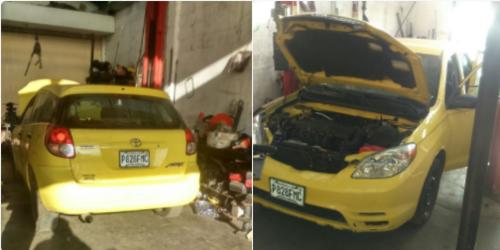 Durante un allanamiento en Salcajá, se localizó el vehículo robado que la estructura usó para el secuestro de noviembre. (Foto: PNC)
