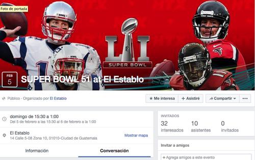 El Establo prepara muchas promociones para el día del Super Bowl.