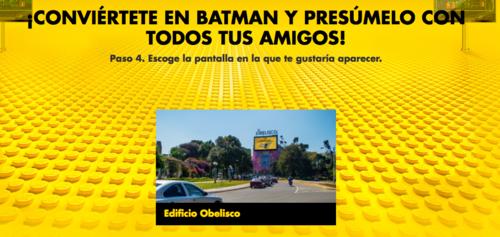 En el caso de Guatemala, los personajes creados aparecerían en la pantalla instalada en el edificio Obelisco.