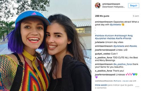Aminta junto a Julietaeta, su fotógrafa. (Foto: Aminta/Instagram)