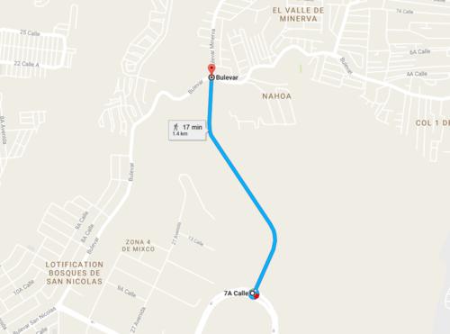 Éste será el sector donde se llevará a cabo la ampliación de carriles en Mixco.