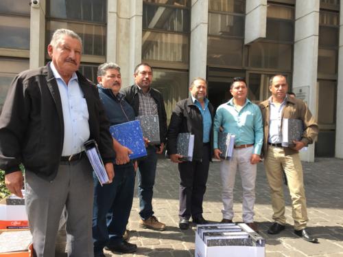 Seis integrantes del Concejo Municipal de Fraijanes presentaron una querella penal en contra del alcalde de esa localidad. (Foto: Evelyn de León/Soy502)