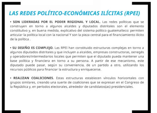 El pronunciamiento de la CICIG en el informe de financiamiento electoral ilícito.