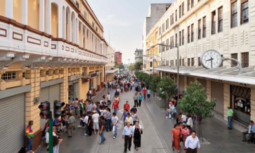 La zona 1 ocupa el primer lugar en robo de celulares debido a la afluencia de peatones que posee. (Foto: Municipalidad de Guatemala)
