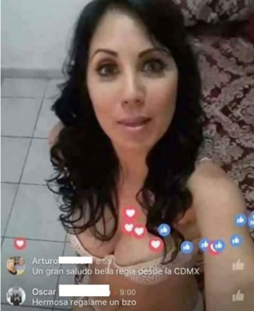 La mujer transmitía en Live Facebook sus servicios como escort. (Imagen: TV Notas)