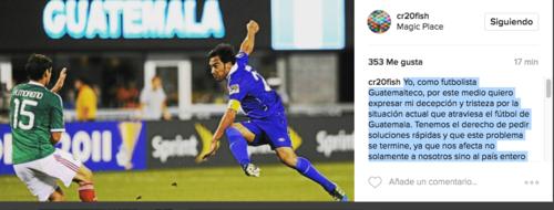 """Este es el mensaje de Carlos """"el Pescado"""" Ruiz que los futbolistas y la afición en Guatemala están volviendo viral. (Foto: Captura de pantalla)"""