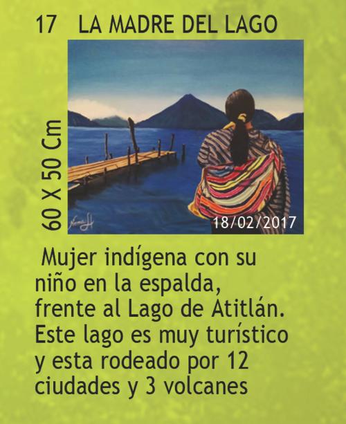 En las pinturas de Hernández se aprecian imágenes comunes de la cultura guatemalteca. (Foto: Trifoliar de la exposición)