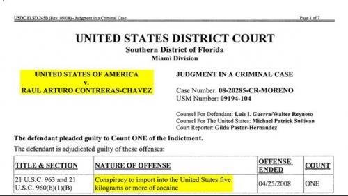 Causa penal en la que Contreras se declaró culpable. (Foto: Infobae)