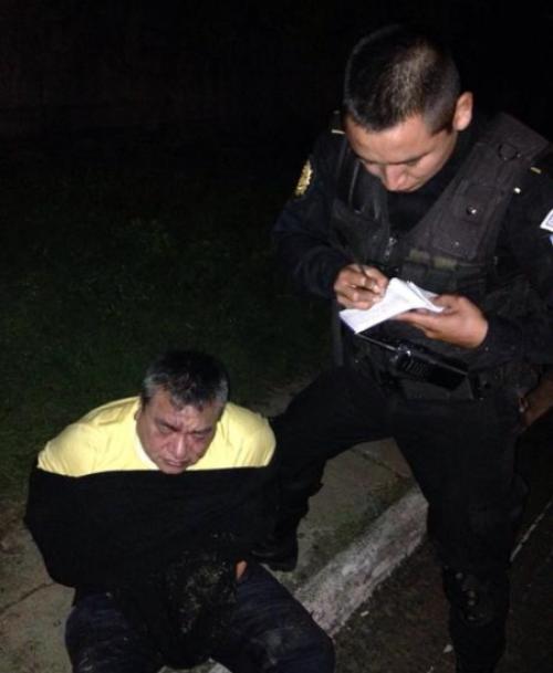Contreras mostró resistencia el día de su captura. (Foto: PNC)