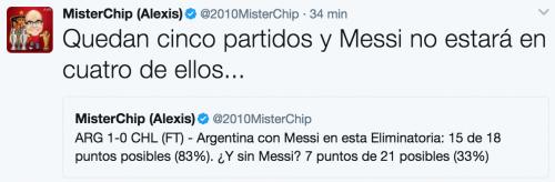 MisterChip comparó las estadísticas de Argentina con y sin Messi.