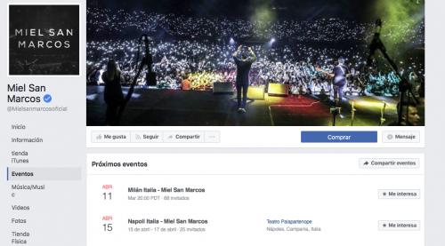 Miel San Marcos de gira por Italia. (Foto: Facebook)