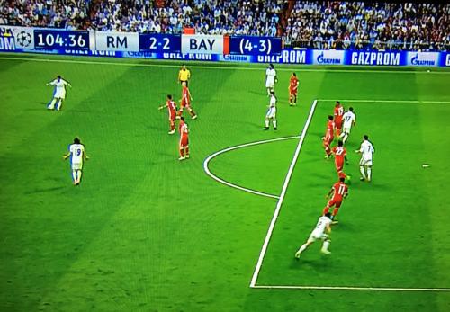 Cristiano Ronaldo estaba en posición adelantada en la jugada del 2-2.