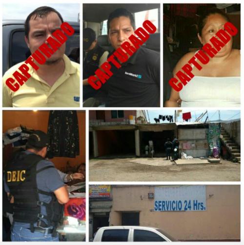 Los cuatro detenidos son señalados por los delitos de trata de personas y remuneración para la promoción, facilitación o favorecimiento de prostitución. (Foto: PNC)
