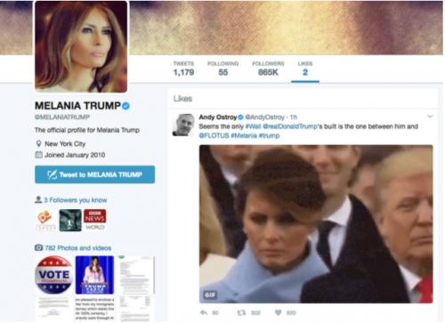 """El """"me gusta"""" fue otorgado por la cuenta personal de la Primera Dama. (Foto: El País)"""