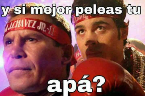 Los memes en referencia a Julio César Chávez (papá) también aparecieron. (Foto: Twitter)