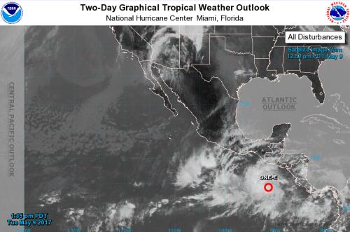 La Conred alerta por un sistema de baja presión que se ya se formó en el Pacífico. (Foto: NHC/NOAA)