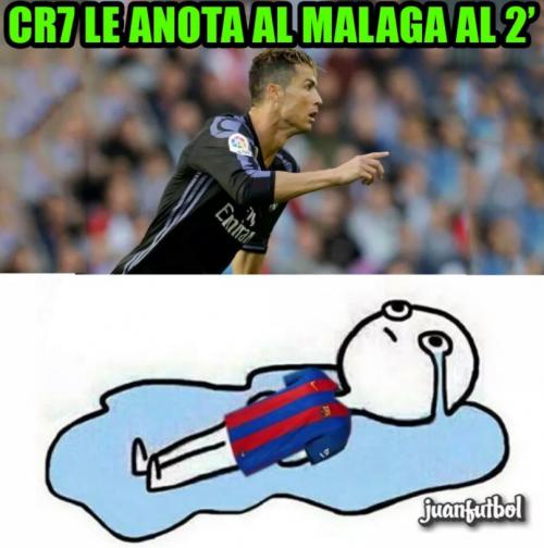 Aparecieron memes en referencia al gol tempranero de Cristiano Ronaldo.