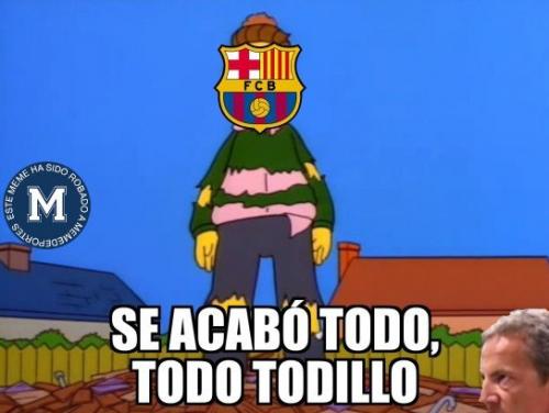 Los memes se burlan de los aficionados del Barcelona.