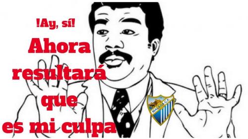 Los memes sobre la derrota del Málaga no se hicieron esperar.