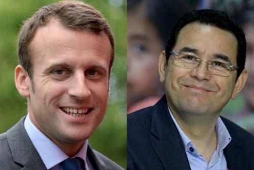 Emmanuel Macron, presidente de Francia y Jimmy Morales, se reunirán en Junio. (Foto: Google)