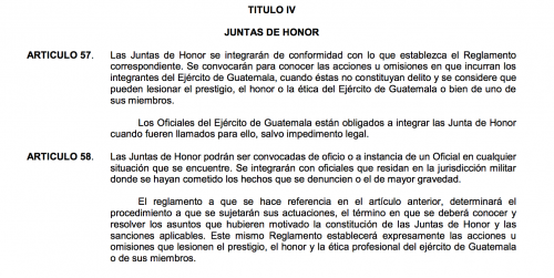 Ley Constitutiva del Ejército de Guatemala. (Foto: captura de pantalla)
