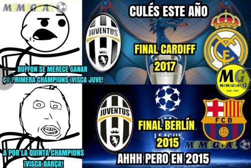 La final de Champions de 2015 entre Barcelona y Juventus también estuvo presente.