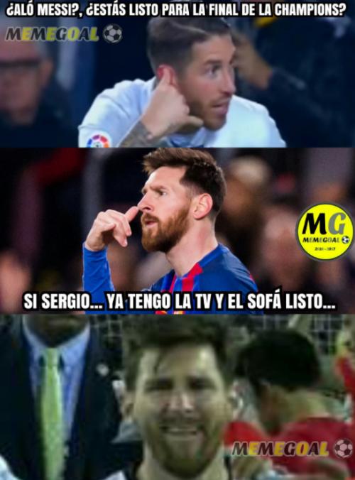 Los usuarios utilizan a Lionel Messi para burlarse del Barcelona por no disputar la final.