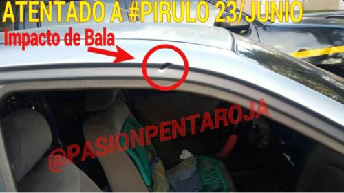 Según Puente, desconocidos dispararon en contra del vehículo en el que él viajaba a inmediaciones de la zona 11 capitalina. (Foto: Twitter)