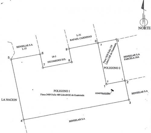 Este es el plano de los terrenos adquiridos por la municipalidad.