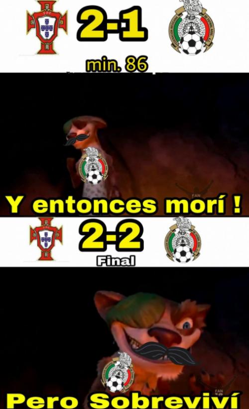 El empate del partido llegó sobre el final.