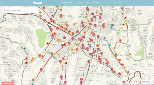 Así lucen las principales rutas de salida de la ciudad. (Captura Waze)