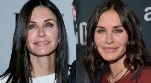 Esta es la comparación de Courtney en su drástico antes y después. (Foto: Infobae)