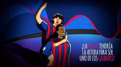 El Barcelona lo aceptó y Messi se inició en las categorías inferiores del club.