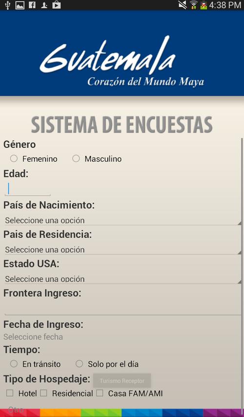 Esta es la imagen de la aplicación desarrollada por el Intecap.