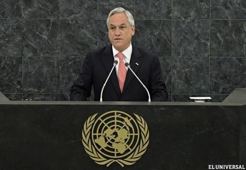 Piñera hizo alusión a la postulación de Chile para el Consejo de Seguridad