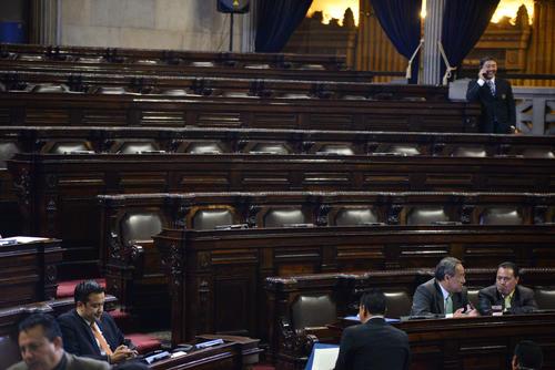 El presidente tiene una carta más, ya que la bancada de Lider, aliada del oficialismo, podría frenar las sesiones plenarias sin asistir para no alcanzar el cuórum. (Foto: Wilder López/Soy502)