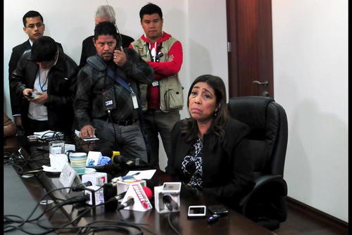 Sherry Ordóñez fue la primera ministra en dejar el equipo de Jimmy Morales. (Foto: Archivo/Soy502)