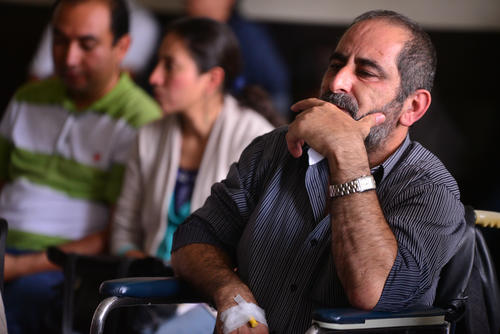 Osama Ezzat Azziz Aranki llegó a la última audiencia en tribunales en silla de ruedas. (Foto: Archivo/Soy502)